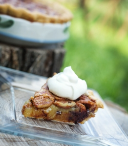Kentucky Chocolate Bourbon Pecan Pie with Bourbon Whipped Cream