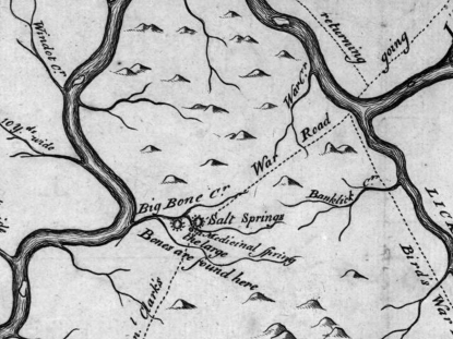John Filson Map Kentucky Bog Bone Lick