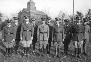 Military officers at University of Kentucky. (Photo courtesy of UK Libraries).