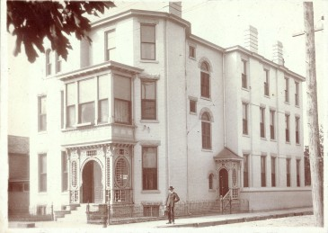 Belle Brezing's notorious mansion for men at No. 59 Megowan Street. The third story was added following a fire in 1895. (Courtesy of The Belle Brezing Photographic Collection, Special Collections, University of Kentucky)