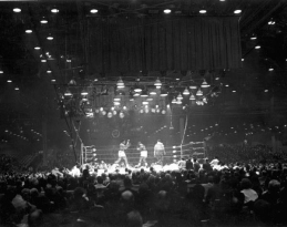 Championship fight between Cassius Clay and Sonny Liston: Miami Beach, Florida, 1964. via State Library and Archives of Florida