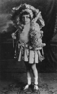 "Betty Bryant dressed to perform George M. Cohan's ""Great Easter Sunday Parade"""