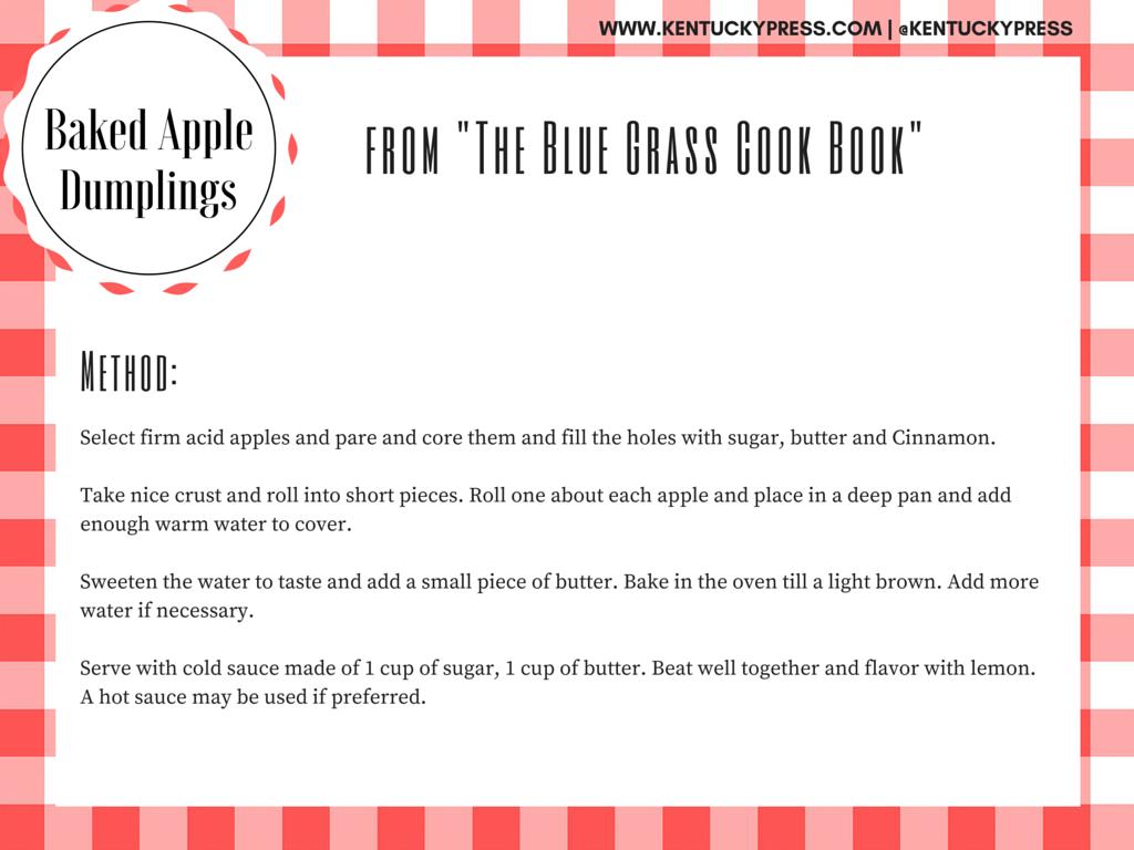 Blue Grass Baked Apple Dumplings