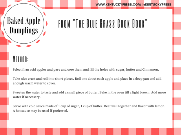 Blue Grass Baked Apple Dumplings