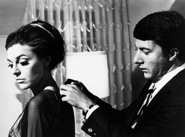 THE GRADUATE, from left: Anne Bancroft, Dustin Hoffman, 1967