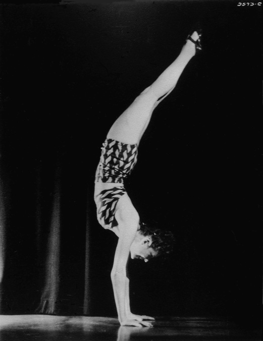 FIG 30 Showing off her gymnastic ability, 1940s