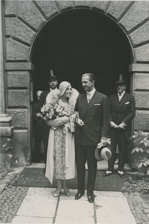 FIG 7 Wedding day (1931, July 16)